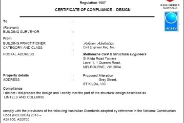 Certificate Of Compliance Form 1507 -